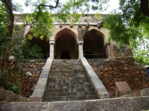 Kushak Mahal, seen from ground level.