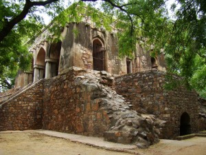 A view of the shikargah, seen from the side.