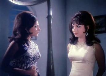 Sharmila Tagore as Deepa and Suzie in An Evening in Paris