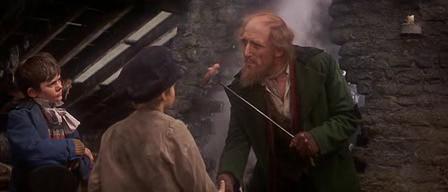Fagin greets Oliver