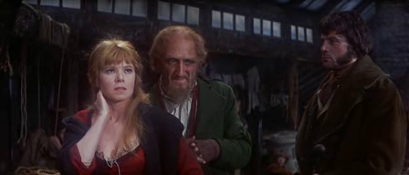Ron Moody with Shani Wallis and Oliver Reed in Oliver!