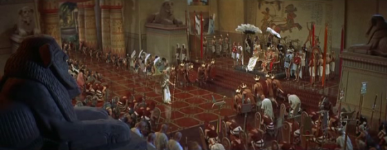 A scene from The Egyptian, showing Pharaoh's court