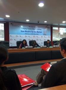 At the FICCI auditorium, with Urvashi Butalia, Vikas Gupta, and Bhaskar Roy.