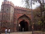 Ajmeri Gate. Ghaizuddin's madarsa, opposite the gate, was the venue for mushairas in the mid 1800s.