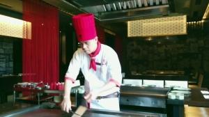 Chef Jonathon at work.