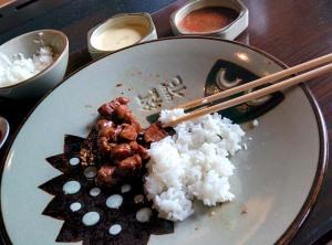 Benihana: hibachi chicken, served with rice.