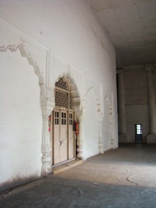 Inside the Dara Shukoh Library: the arches are typically Shahjahani.