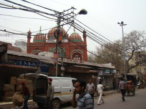 A view of Masjid Mubarak Begum, built by Octerlony's wife, Mubarak Begum.