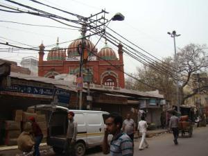 A view of Masjid Mubarak Begum, built by Octerlony's wife, Mubarak Begum.