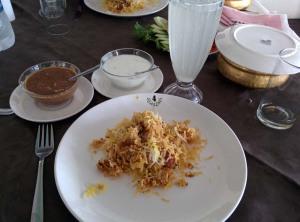 Biryani, mirchi ka salan and raita at 4 Seasons.