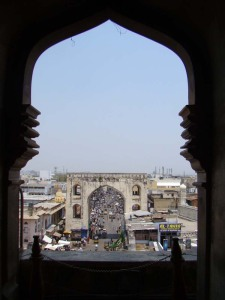Looking out from the Charminar.