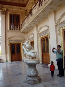 At one of the palaces in the complex.