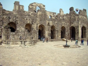 The amphitheatre, where dancers would perform for the Sultan.