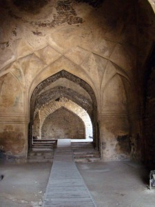 The Hall of Whispers in Golconda.