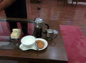 Ethiopian Sidamo coffee at the Tea Lounge.