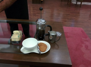 Ethiopian Sidamo coffee at the Tea Lounge.