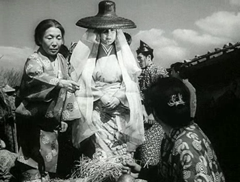 A mysterious lady shows an interest in Genjuro's pottery