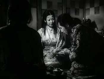 Lady Wasaka praises Genjuro's work...