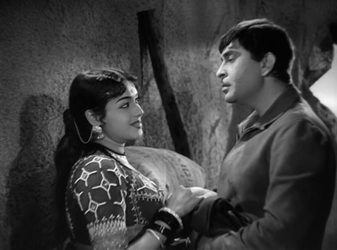Raj Kapoor and Padmini in Jis Desh Mein Ganga Behti Hai