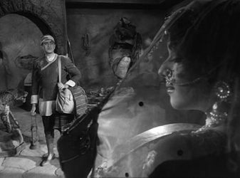 A frame from the film