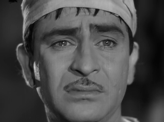 Raj Kapoor as Raju in Jis Desh Mein Ganga Behti Hai