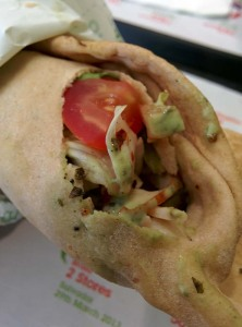 The chicken caesar pita at Pita Pit.