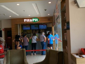 Pita Pit: a view of the counter.