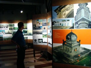 At the Site Exhibition in the Quli Qutb Shahi Archaeological Park.