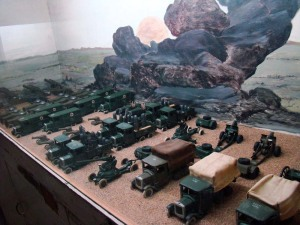 At the Children's Gallery: toy war transport.
