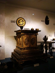 In the Far Eastern Furniture Gallery, a Burmese home shrine.