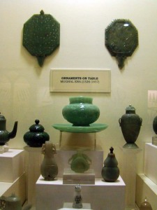 Jade table ornaments from Mughal India.