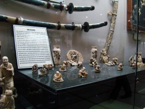 Examples of netsukes, in the Japanese Gallery.