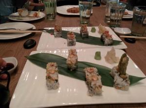 Sushi at Town Hall.