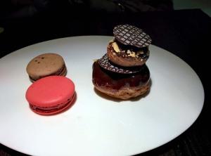 Assorted dessert platter at Yauatcha: prettier than it tastes.