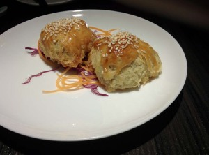 Yauatcha's baked chicken puff: delicious!