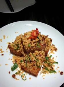 Yauatcha's excellent fried turnip cake.