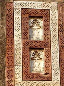 Carved stone at the Alai Darwaza, Delhi.