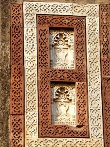 Carved stone at the Alai Darwaza, Delhi.