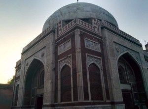 One of Nizamuddin's loveliest monuments, the tomb of Atgah Khan, husband of Akbar's wet nurse, Jiji Anga.