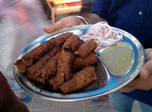 Seekh kababs, Kit Care Kabab Corner.