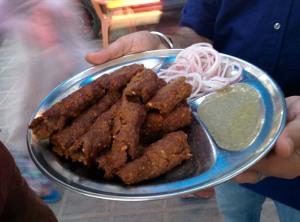 Seekh kababs, Kit Care Kabab Corner.
