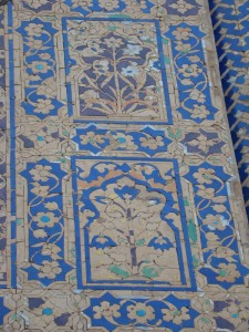 Tiles at Agra's Chini ka Rauza.