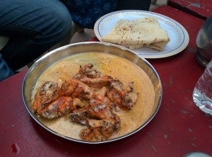An unusual dish of chicken with yoghurt and butter, at Kit Care Kabab Corner.