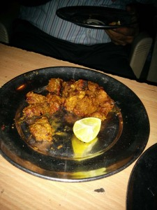 Mutton tikka at Ghalib Kabab Corner - beautifully tender and delicious.