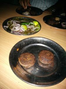 Shaami kababs at Ghalib Kabab Corner.