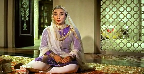 Nadira as Gauharjaan in Pakeezah