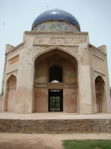 The Sabz Burj, named for the tiles on its dome, originally green.