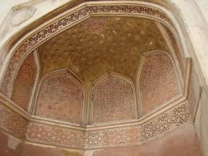 Painted panels at the Sabz Burj.