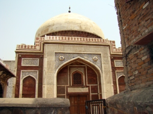 A view of the tomb from its nondescript gate.