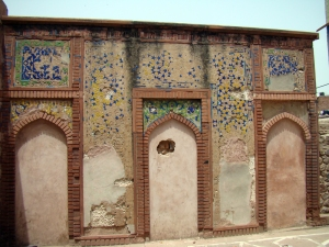 The wall mosque at Atgah Khan's Tomb.
